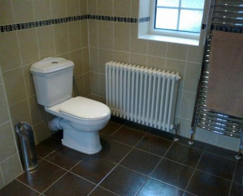 BST Bathrooms toilet and radiator