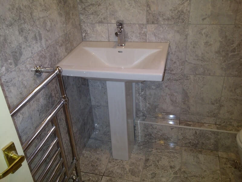 An example of our bathroom tiling services.